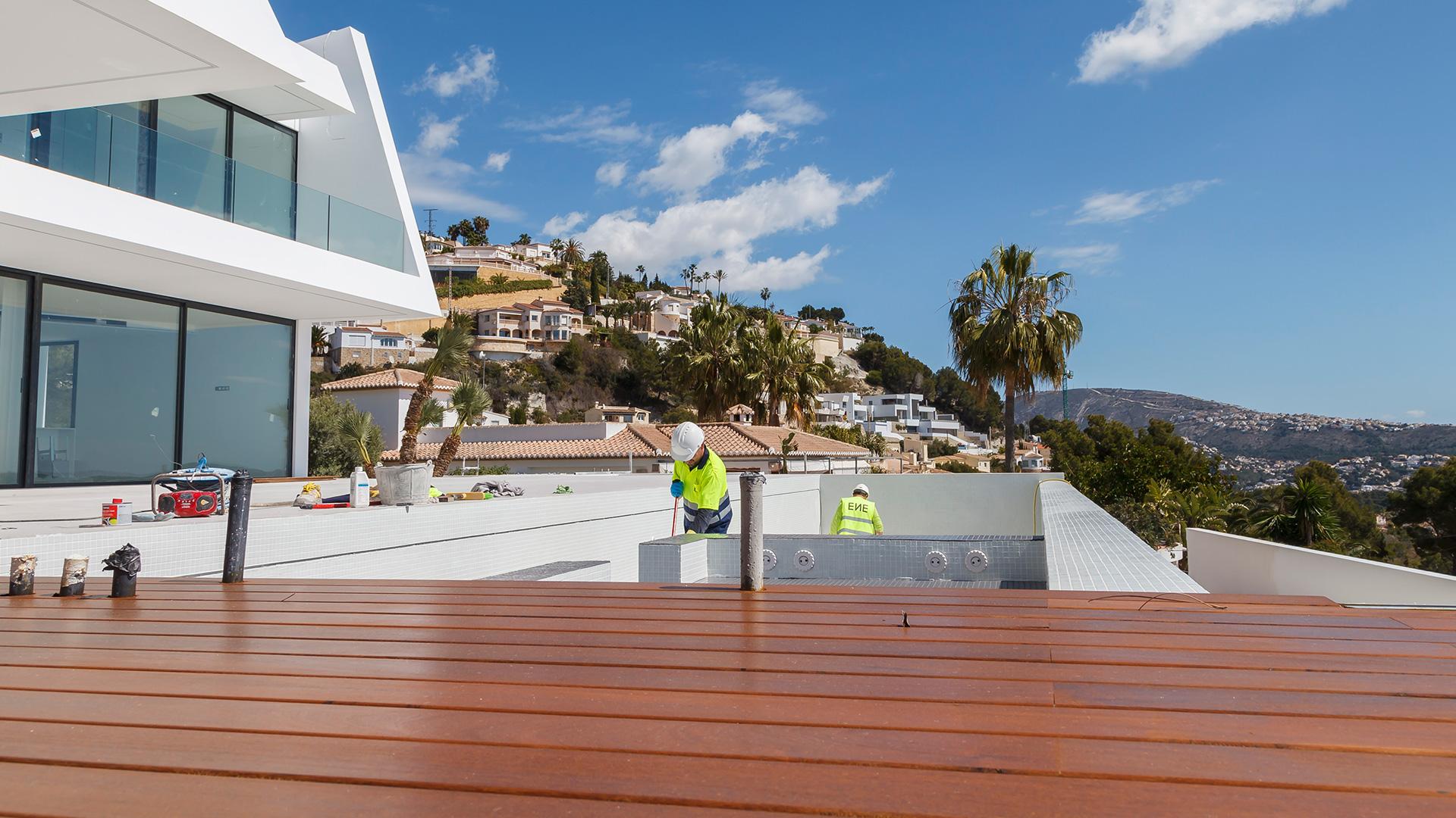 ENE- Construccion company in Spain. Villa in Moraira. RGB Arquitectos