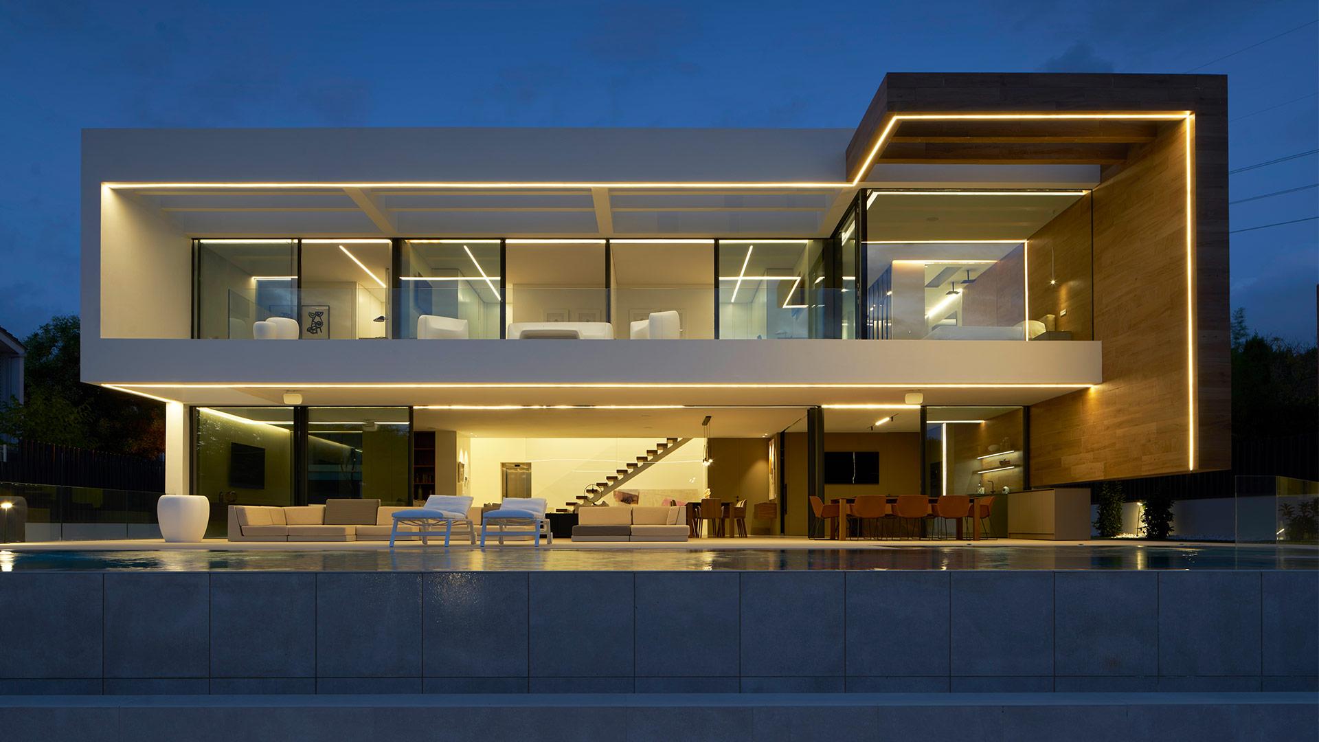 ENE Construccion construction company in Spain. Villa in Valencia. RGB Arquitectos