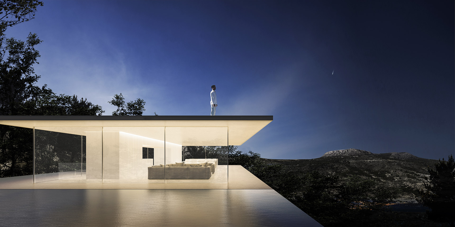 ENE Construcción España constructora viviendas lujo Proyectos Casa Espejo de Agua