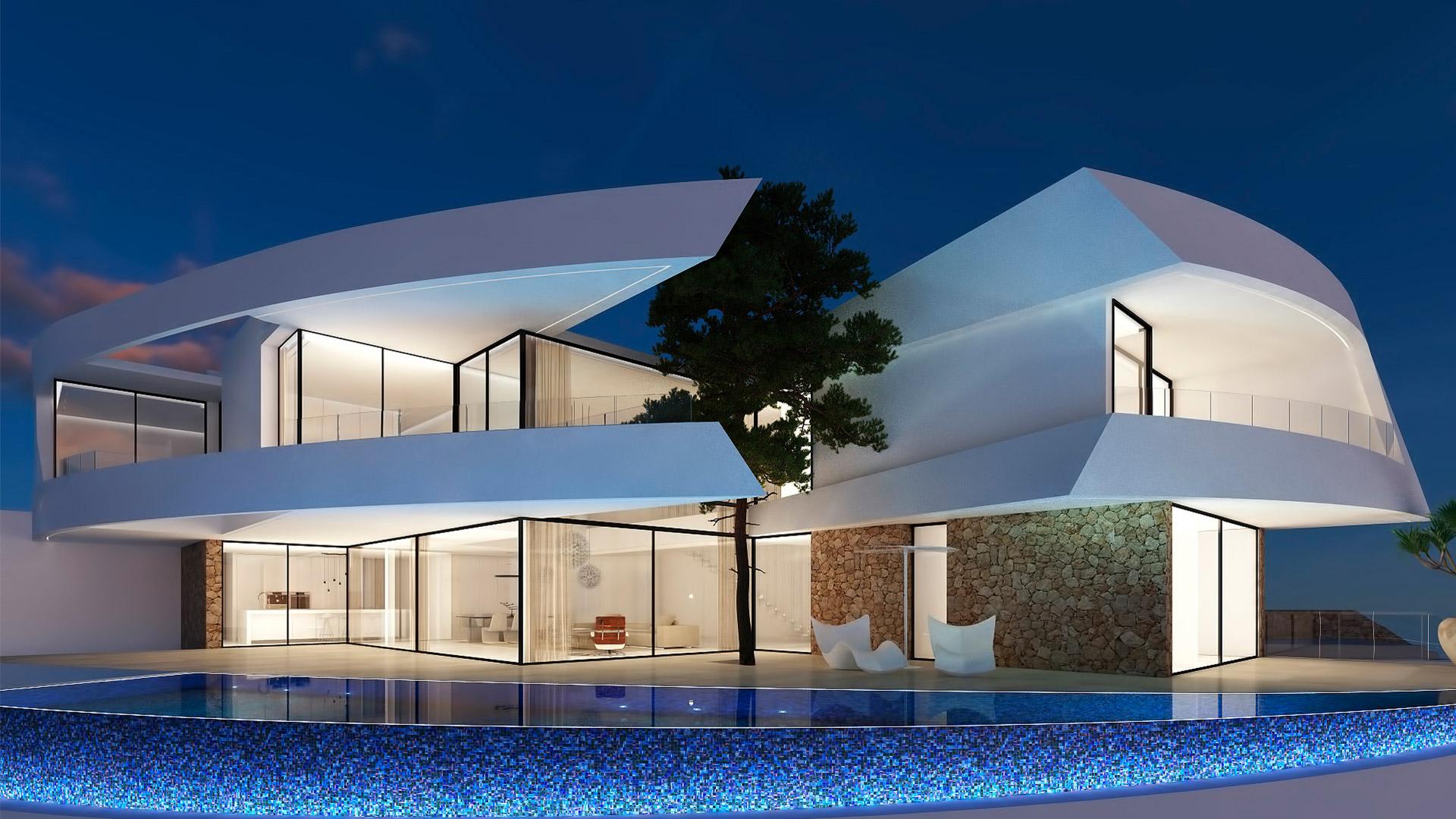 Vivienda unifamiliar en Altea. ENE Construcción, constructora en España, RGB Arquitectos