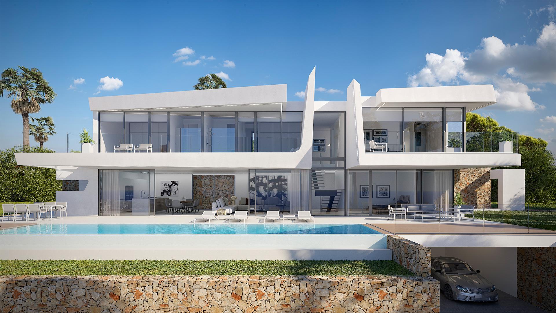 Vivienda unifamiliar en Moraira. ENE Construcción, constructora en España, RGB Arquitectos