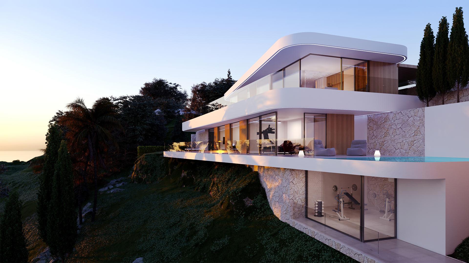 ENE Construcción, villa Olga, vivienda unifamiliar en Moraira, España