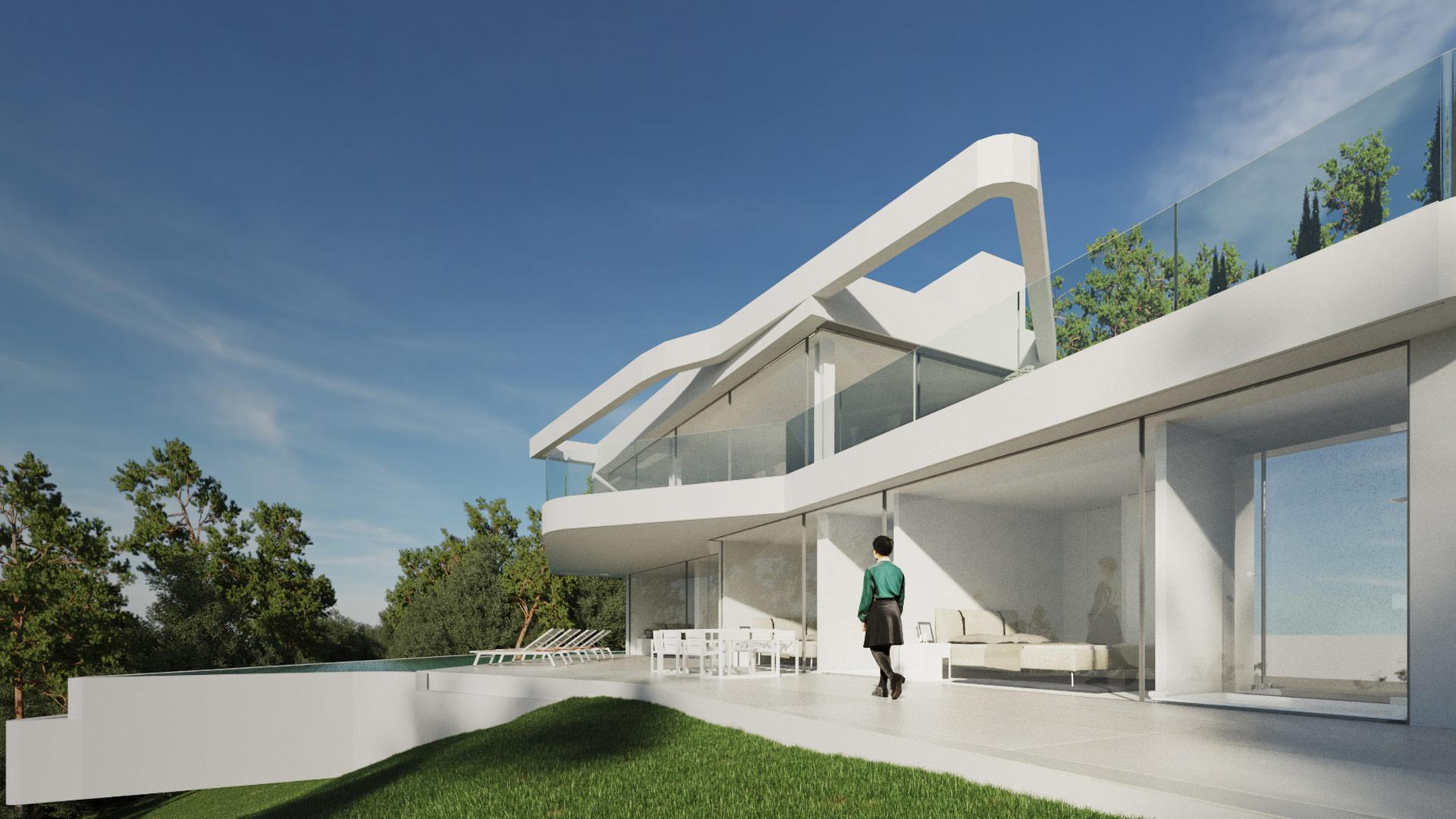 Proyectos Villa en Cuesta San Antonio, Vivienda unifamiliar, ENE Construcción, constructora en España