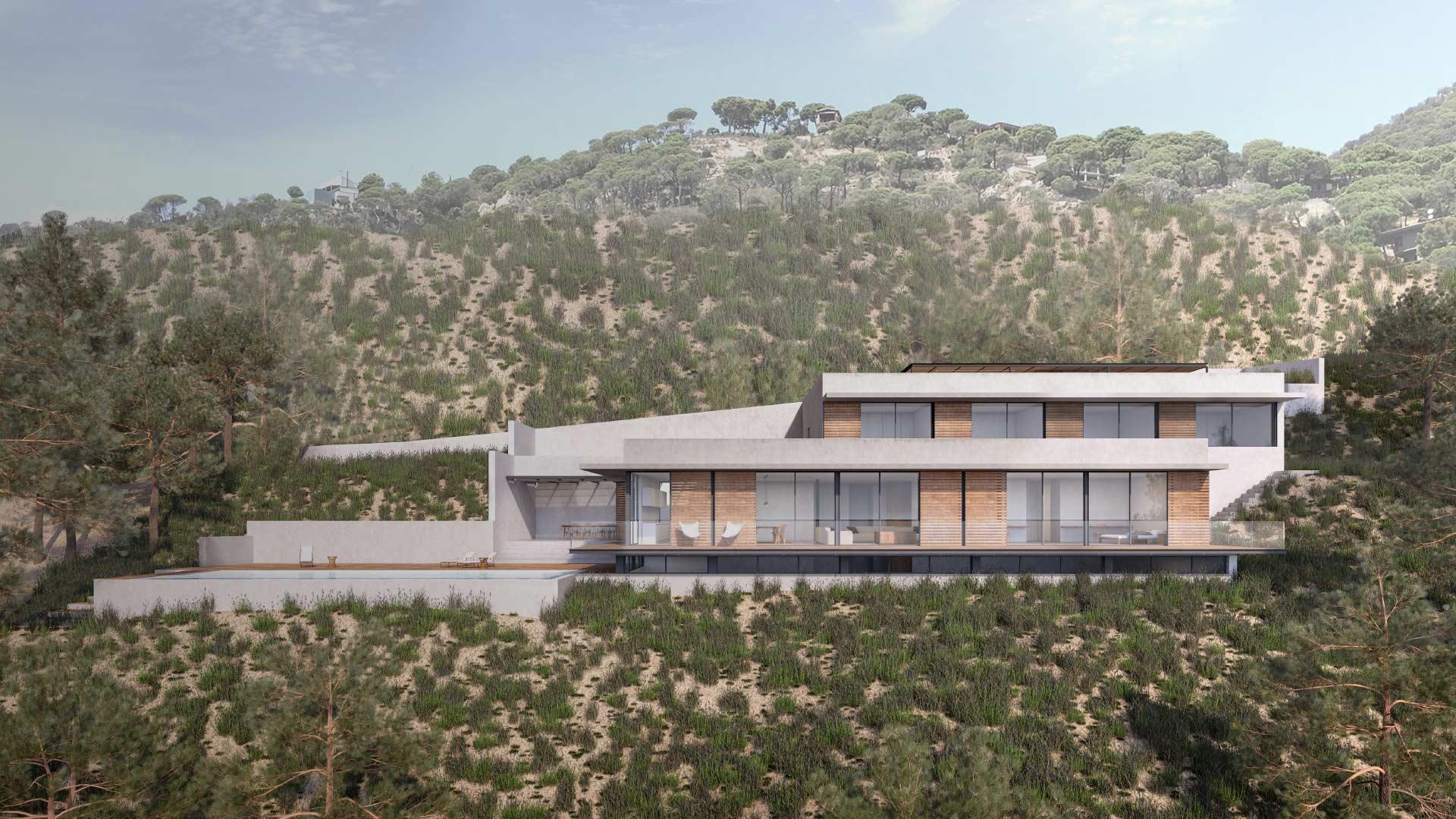 Villa Sant Feliu de Guixols, Vivienda unifamiliar, ENE Construcción, constructora en España